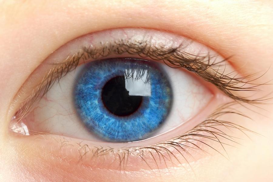 расширенный зрачек глаза