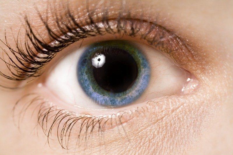 расширенный зрачок глаза